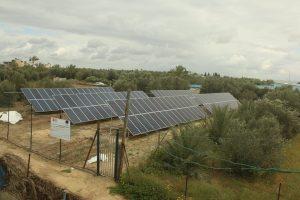 مشروع تركيب أنظمة طاقة شمسية لآبار زراعية في منطقة عبسان الكبيرة