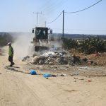 بلدية عبسان الكبيرة تقوم بترحيل 140 طنا من النفايات خلال أول يومين من أيام عيد الأضحى المبارك
